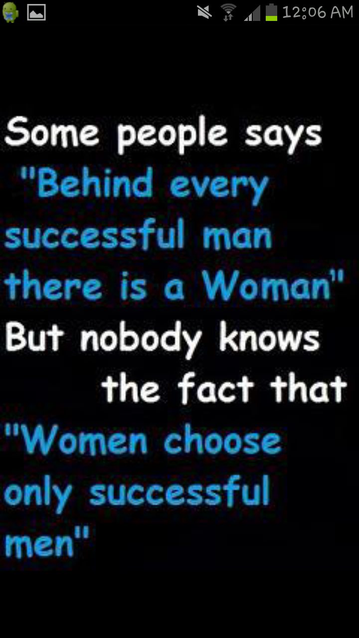 Facts about women & successful men!