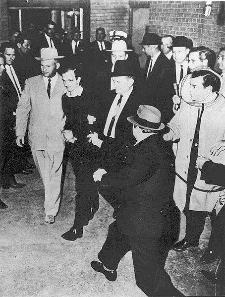 Jack Ruby moments before shooting Lee Harvey Oswald, 1963