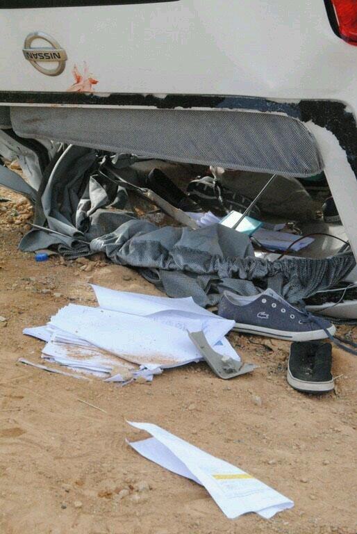 صورة مؤلمة من حادث طالبات ضرما