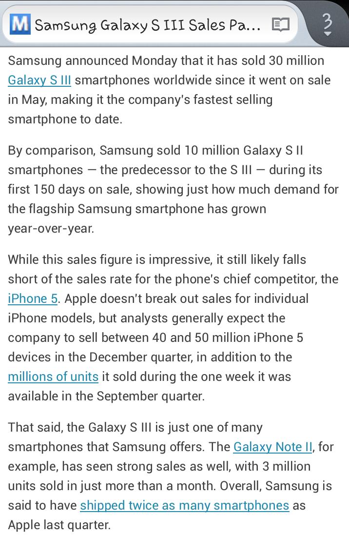 Samsung Galaxy S III Sales Pass 30 Million in 5 Months