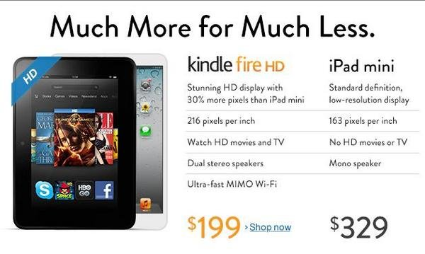 Why did #Amazon Pull Anti-iPad Mini Comparison Ad From Their Homepage ?