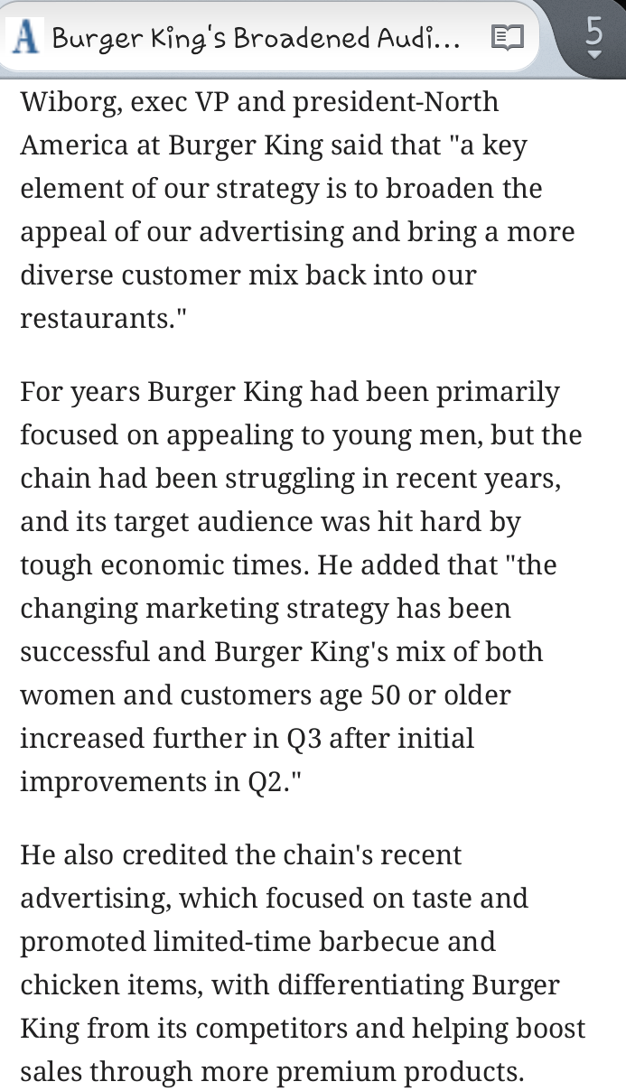 Burger Kings Broadened Audience Target Pays Off in Sales Growth