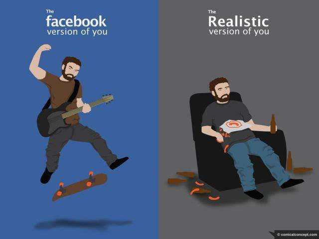 The facebook version of you..admit it people