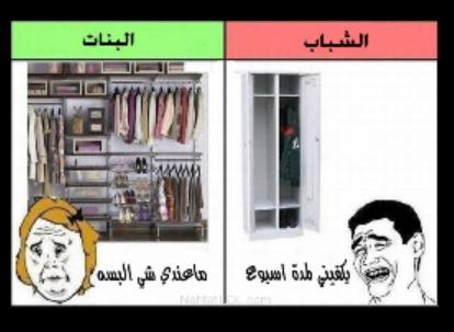 الفرق بين خزانة الشباب والبنات