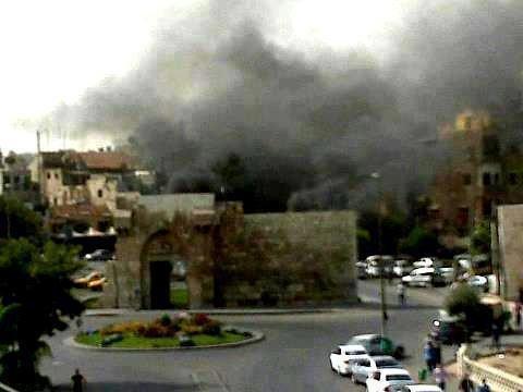 باب توما بعد القصف - #سوريا