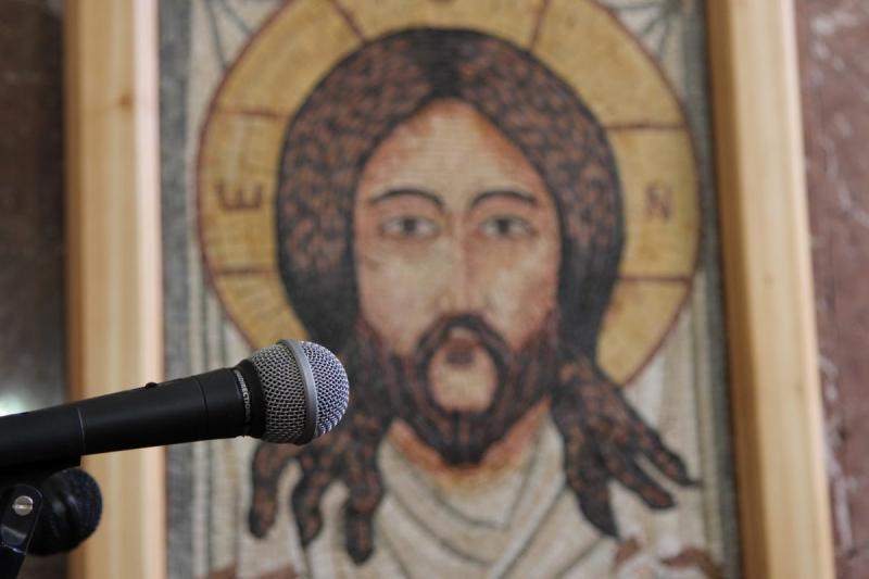 صورة باللحظة المناسبة في كنيسة القديس جورج في #مادبا #الأردن
