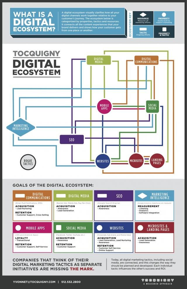 What is a digital ecosystem # infographic