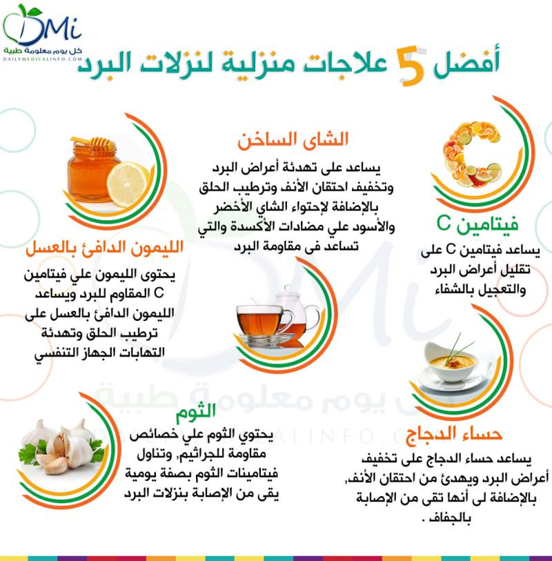 أفضل العلاجات المنزلية لنزلات البرد