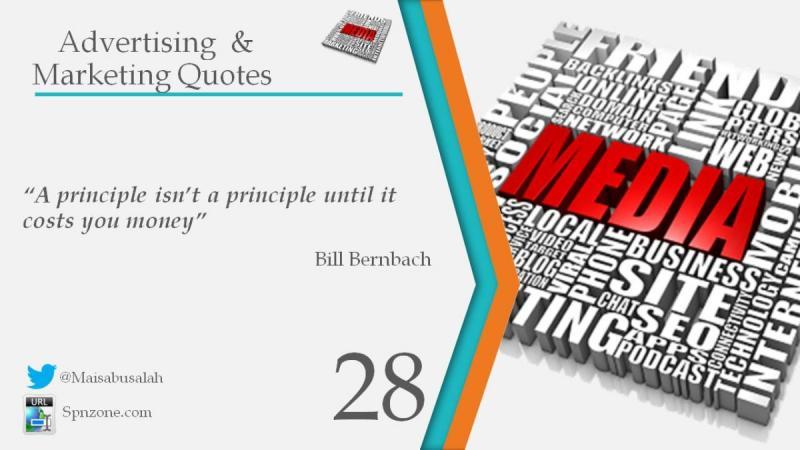 """A principle isn't a principle until it costs you money"""