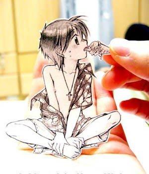 رسومات مبدعة من الورق #أنيمي - صورة 3