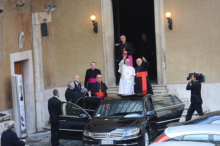 Pope Francis I, born Jorge Mario Bergoglio, elected at the Vatican on Wednesday as the 266th pope