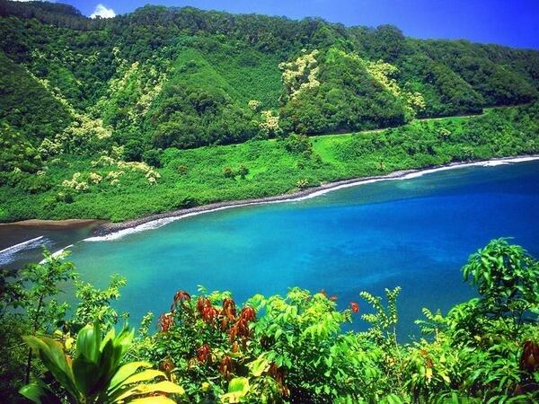 Road to Hana, Turquoise Lagoon, Maui, Hawaii