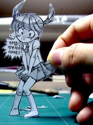 رسومات مبدعة من الورق #أنيمي - صورة 5