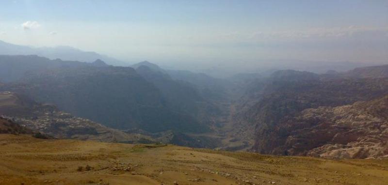 صورة لقرية ضانا من القرب من شركة الأسمنت #الطفيلة #الأردن