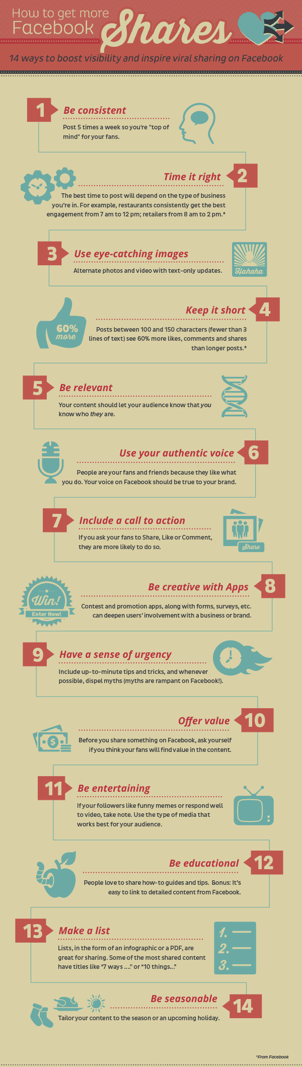 How to Get More #Facebook Likes #infographic