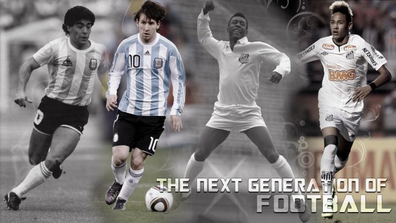 Pel Maradona Messi et Neymar Best Goals #Infographic career stats