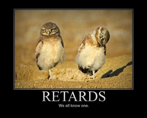 Retards: We all know one ;)