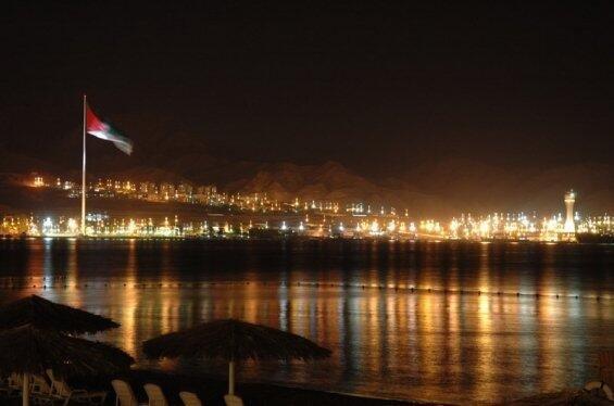 العقبة #الاردن صورة لأحدى شواطئ العقبة