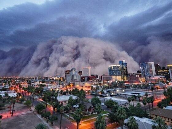 The biggest dust storm ever in the world was in Arizona #USA