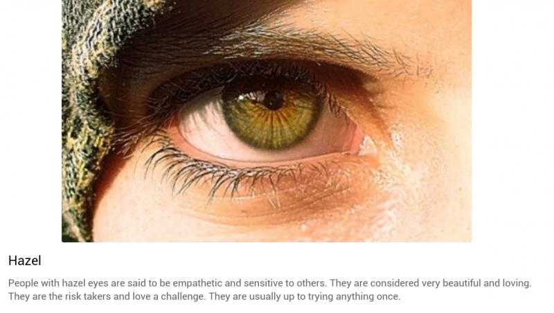 شخصيتك حسب لون عينيك: العسلي أو البني المخلوط مع الأخضر #تحليل_شخصية