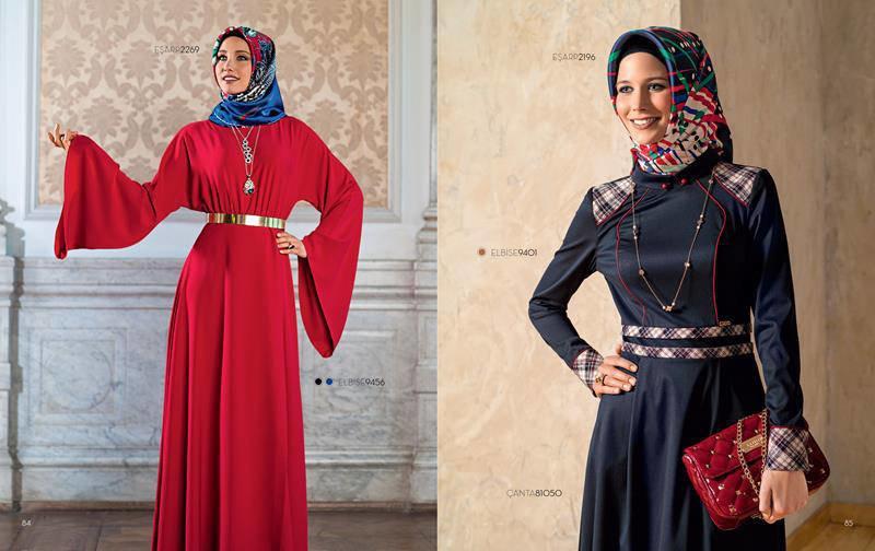 ملابس #محجبات #حجاب : موديلات #فساتين طويلة روعة #بنات - صورة 1
