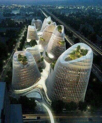 #صورة لمدينة شان شوي تبين فن العمارة في #الصين