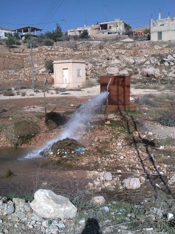هدر المياه - طريق ياجوز - #عمان #الأردن