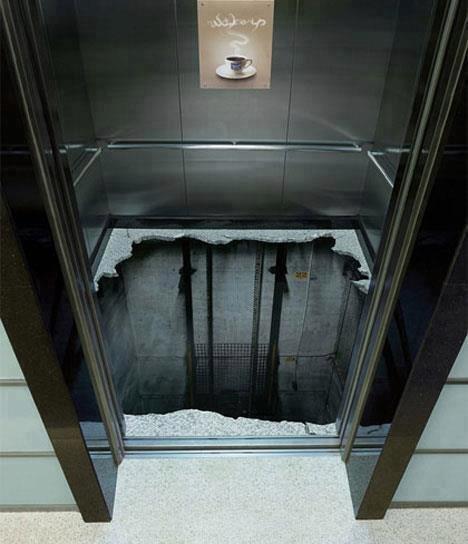3D painting elevator floor