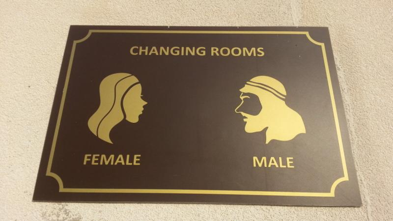 What is changing in the changing rooms?