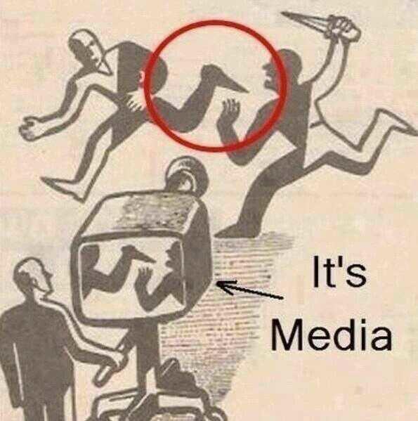 الاعلام يعكس الواقع كما يشاء ..