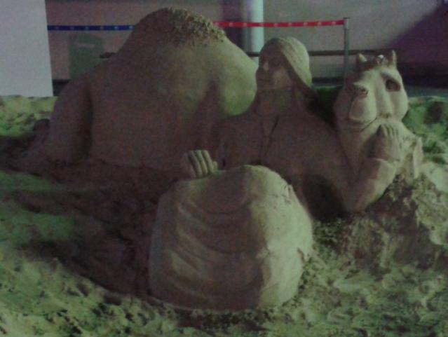 Sand Sculpture @ Marina Mall #AbuDhabi