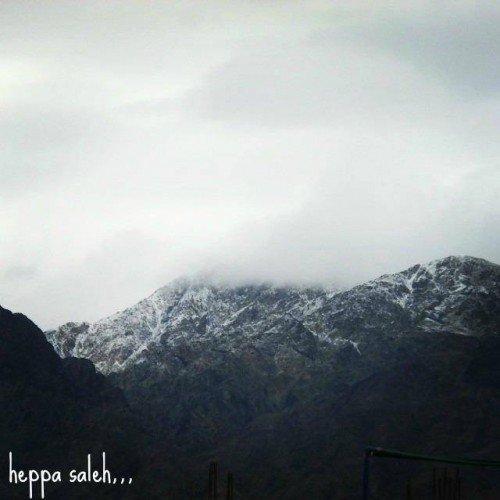 تساقط الثلوج على جبال العقبة في مشهد تاريخي و نادر3