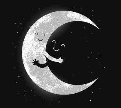 القمر والليل #خلفيات
