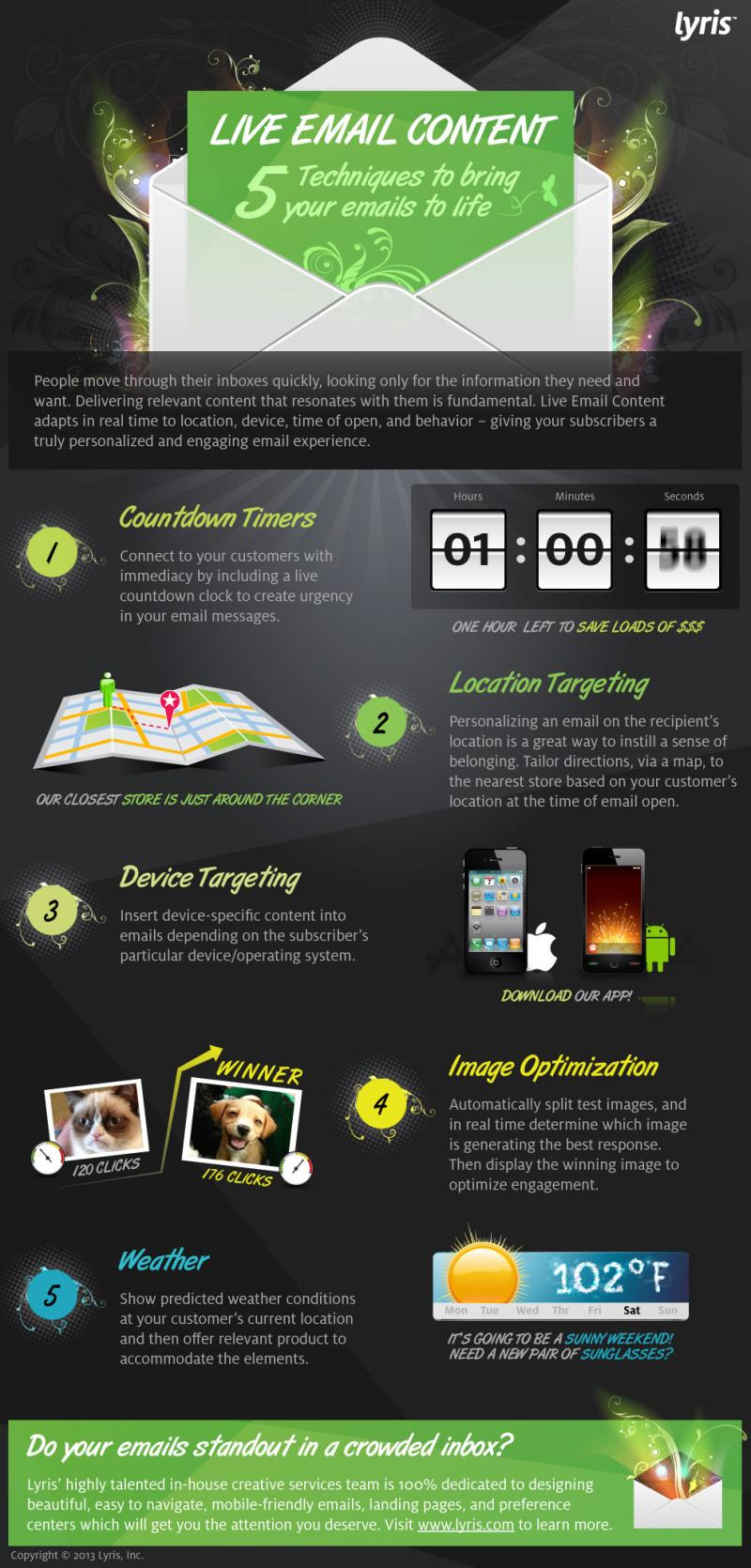 5 techniques to bring your email to life #infographic