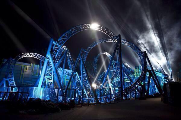This is the insane, record-breaking 14-loop roller coaster is about to open in the UK.