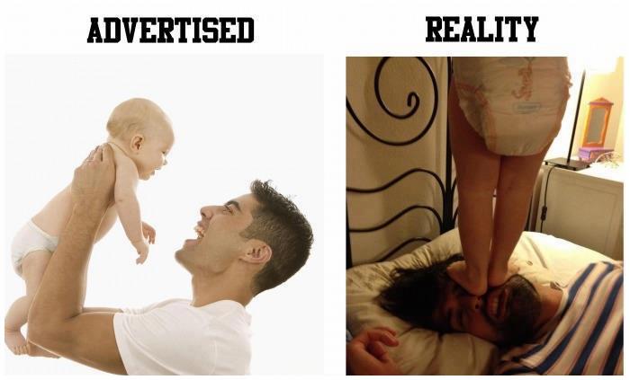الأبوة بين الواقع والإعلانات