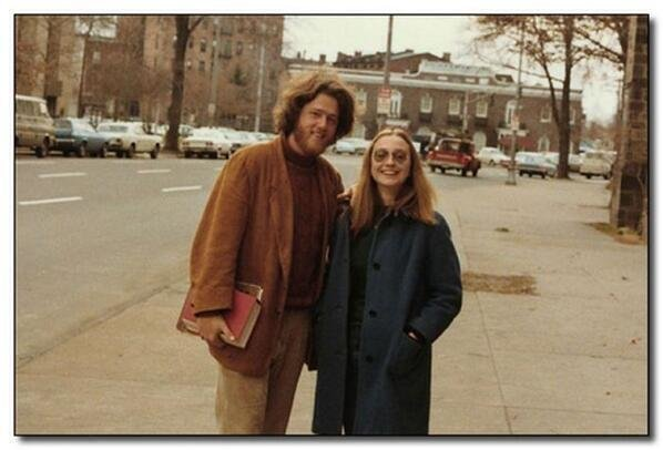 Bill and Hillary Clinton as students, 1972