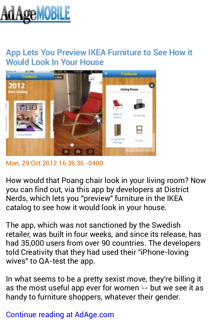 App Lets You Preview IKEA Furniture to See How it Would Look In Your House