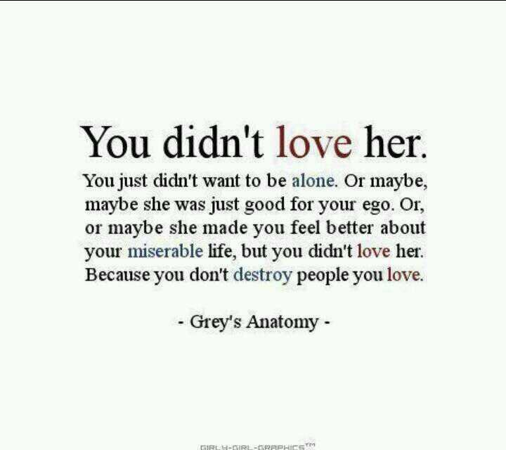 ..You Didn't Love Here