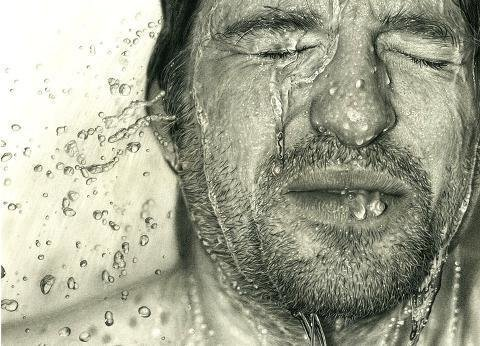 This is an actual pencil drawing