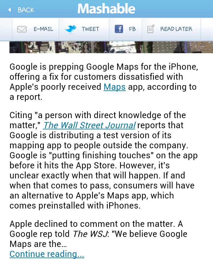 Google Maps Coming to the iPhone