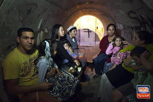 الإسرائيلين يختبؤون في المجاري #فلسطين