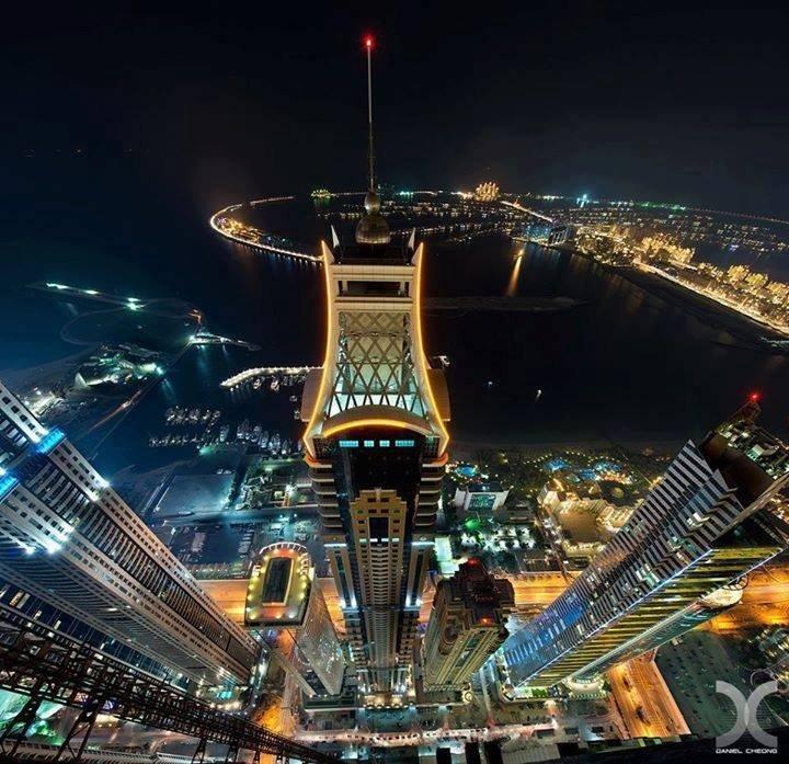 دبي مارينا من ارتفاع مئة طابق