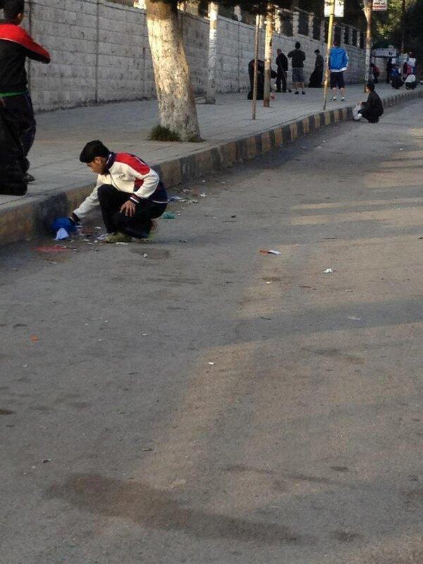 ماليزيون بنظفون شوارع #إربد #الأردن