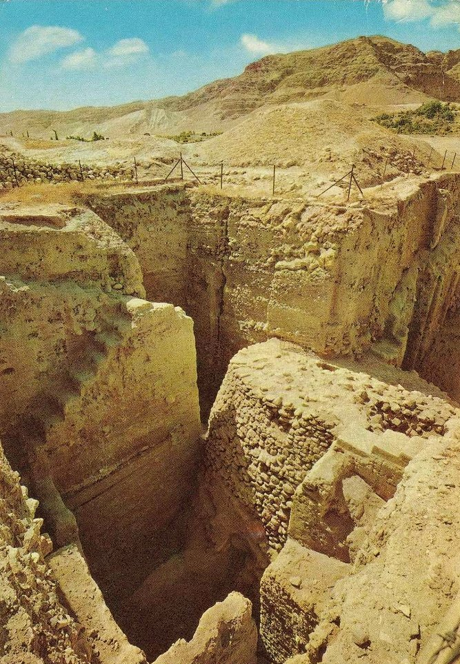 JERICHO - 1960s 5 - Ruins of ancient Jericho (11 thousand years old)