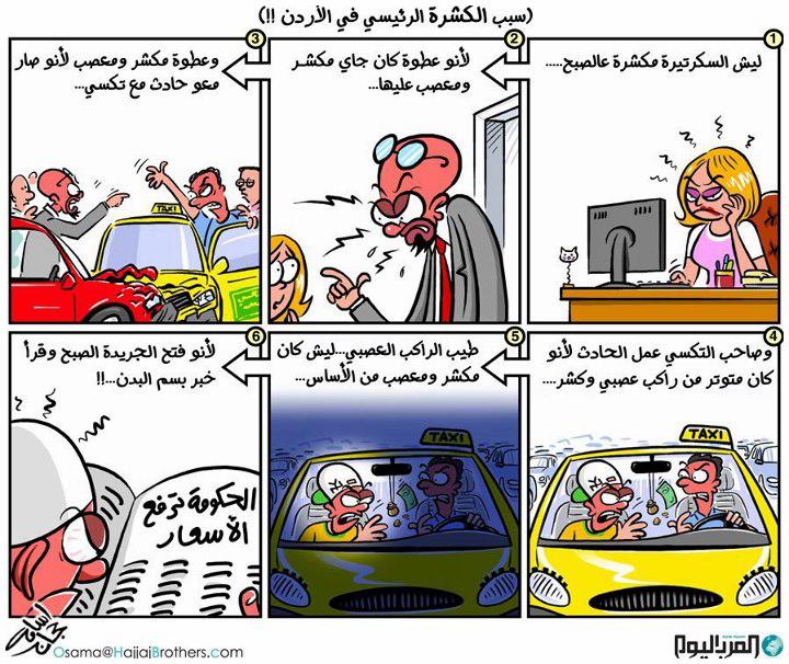 سبب الكشرة في #الأردن #كاريكاتير