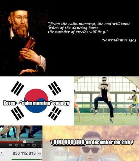 Nostradamus and Gangnam Style