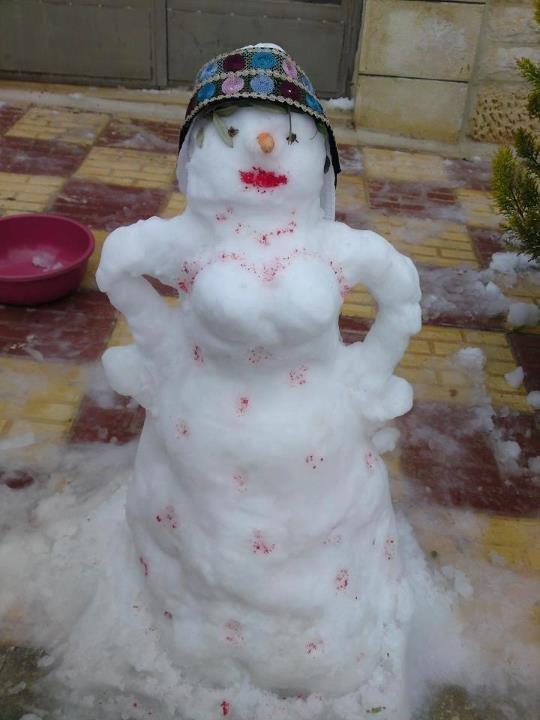 عروسة الثلج في #الأردن #نهفات