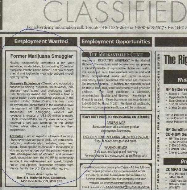 Stupid and funny Jobs Ads