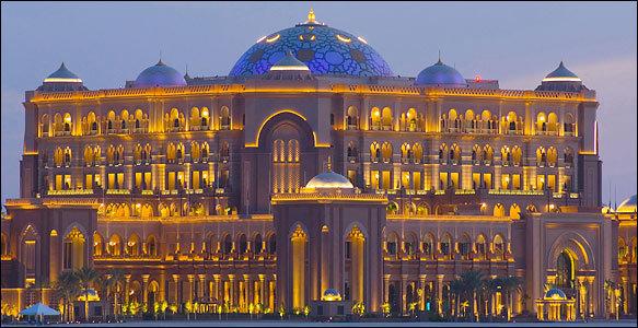 فندق #قصر_الإمارات وقت الغروب #أبوظبي